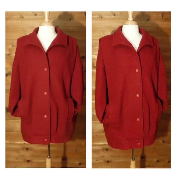 Red Wool Coat- Red Jacket Women- Winter Coat- Red
