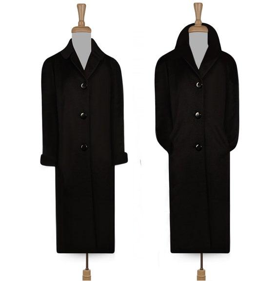 Vintage Long Black Coat- Formal Coat- Long Maxi Co