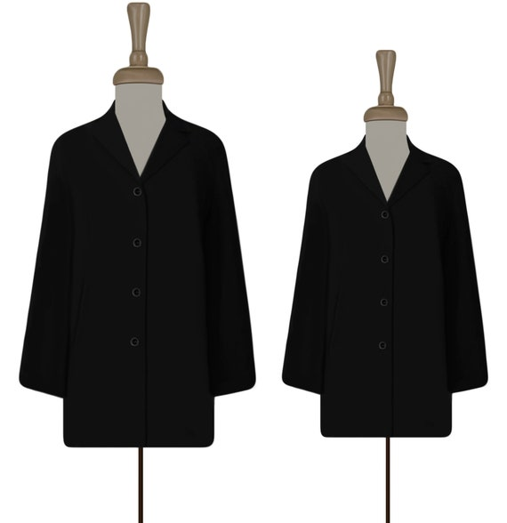 Women's Black Jacket- Simple Black Jacket- Black C