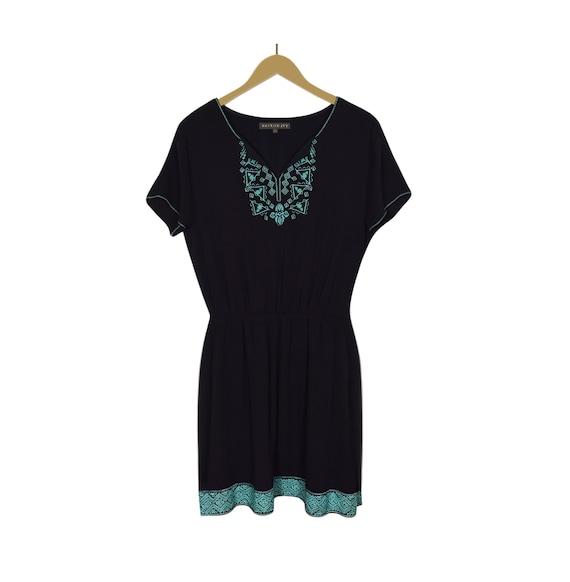 Women's Dress- Rayon Dress- Crepe Dress- Hippie Dr