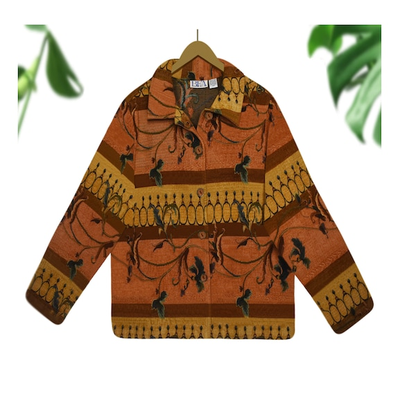 Tapestry Jacket- Carpet Coat- Tapestry Coat- Overs