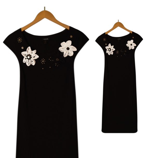 Vintage Black Dress- Womens Dress- Black Dress- Be