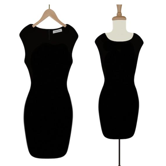 Ruffle Dress- Midi Dress- Womens Black Dress- Blac