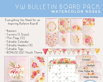 2021 LDS Young Women Bulletin Board Pack [Printable Instant Download] BONUS! 2021 Theme Posters