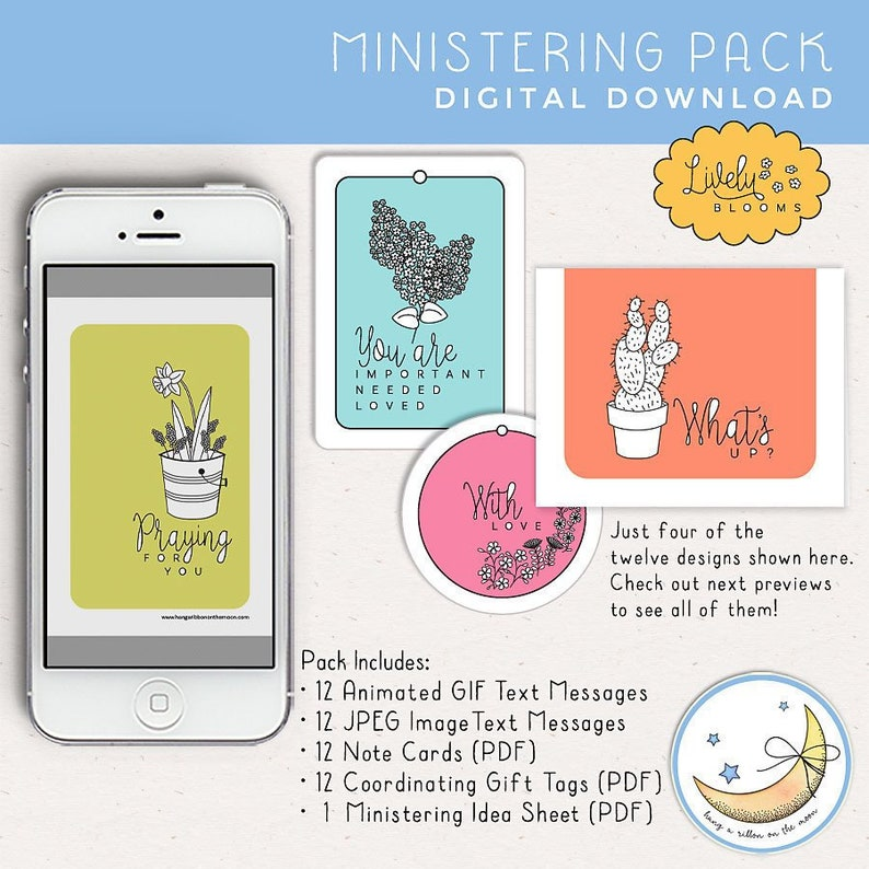 Ministering Pack 12 Uplifting Messages Animated & Image Texts image 0