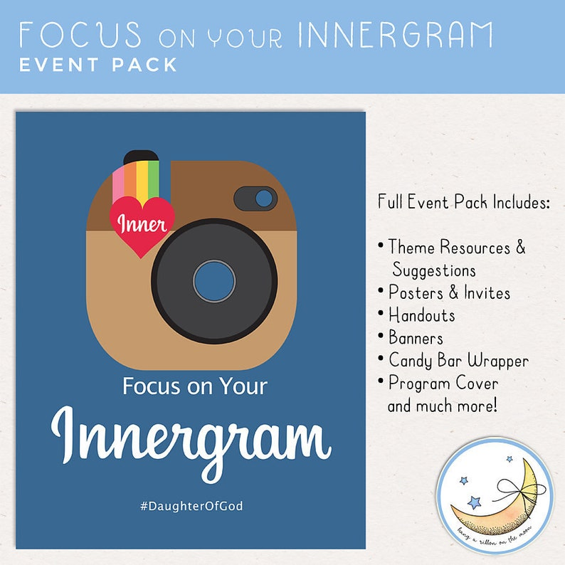 Focus on Your Innergram Theme Event Pack Girls Camp Youth image 0