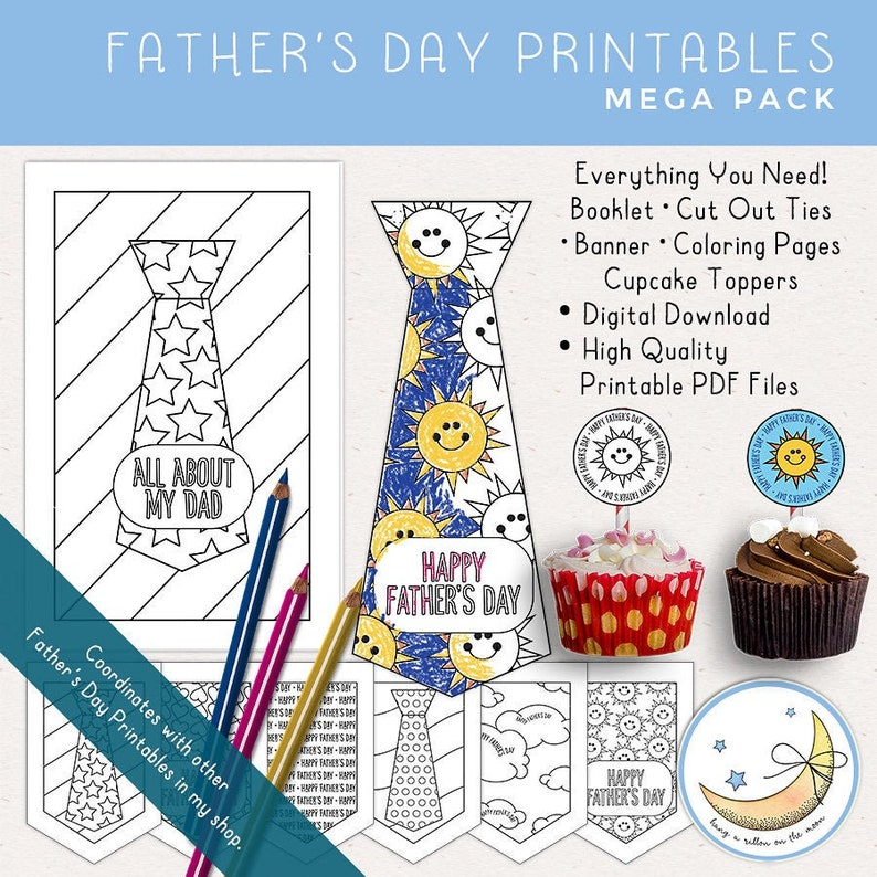 Father's Day Printable Mega Pack: Father's Day Craft image 0