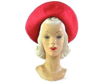 1960s Pink Halo Tam Hat - 1960s Halo Hat - Vintage Pink Halo Hat - Vintage Halo Hat - 1960s Pink Tam - Vintage Pink Tam - 1960s Pink Hat