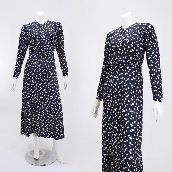 1930s Novelty Print Dress - 1930s Afternoon Dress