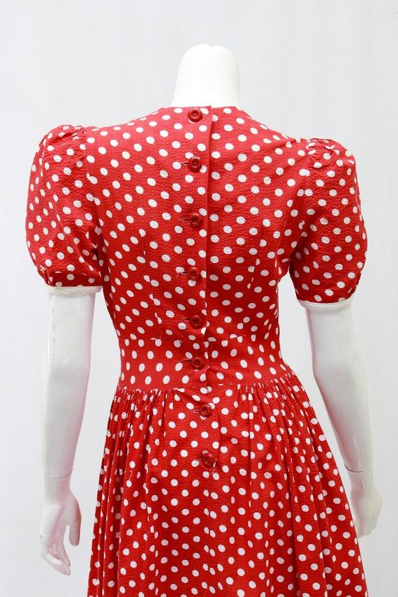 1930s Polka Dot Dress - 1930s Puff Sleeve Dress -… - image 10