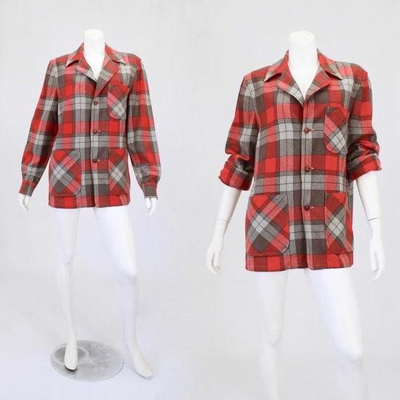 1950s Wool Jacket - Red 49er Jacket - Large 49er J
