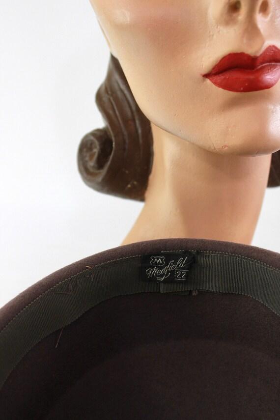 1940s Heather Gray Hat - 1940s Dove Gray Hat - Vi… - image 10