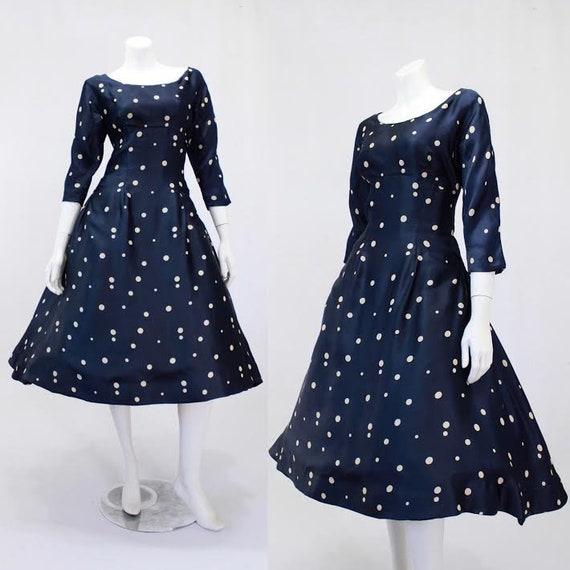 1950s Mollie Parnis Dress - 1950s Designer Dress -