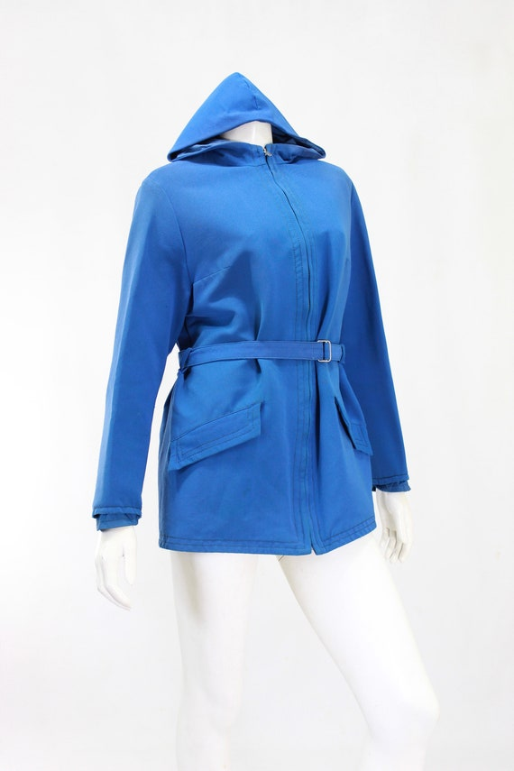 1940s Womens Ski Coat - 1940s Blue Ski Jacket - W… - image 5