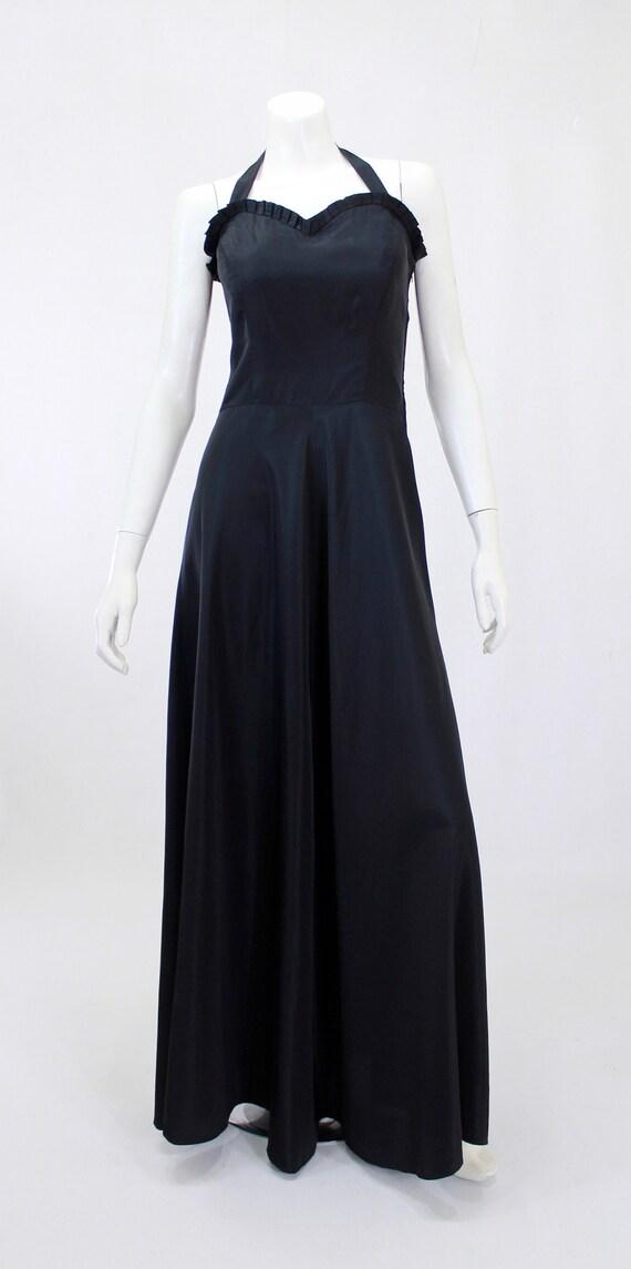 1930s Black Dress - 1930s Gown - 1930s Evening Go… - image 2
