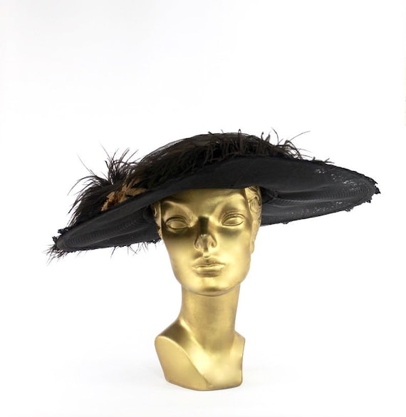 Edwardian Picture Hat - Edwardian Merry Widow - An