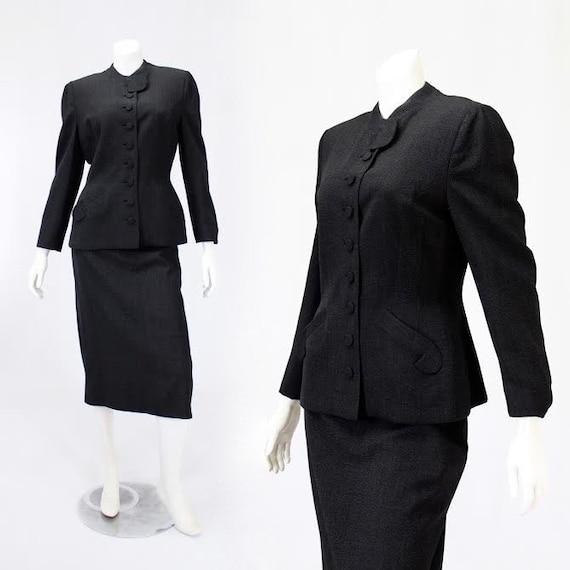 1950s Womens Suit - 1950s Designer Suit - 1950s Ch