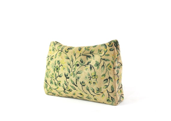 1930s Needlepoint Clutch - 1930s Green Clutch - 19