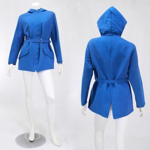 1940s Womens Ski Coat - 1940s Blue Ski Jacket - W… - image 2