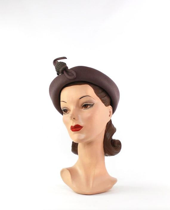 1940s Heather Gray Hat - 1940s Dove Gray Hat - Vi… - image 8