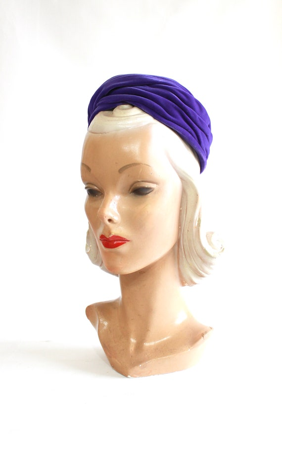 1960s Purple Pillbox - 1960s Purple Hat - Vintage… - image 3