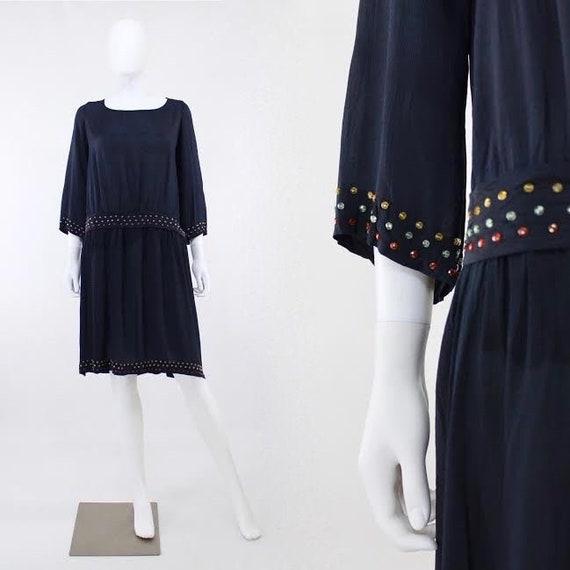 1920s Chemise - 1920s Dress - 1920s Silk Dress - A