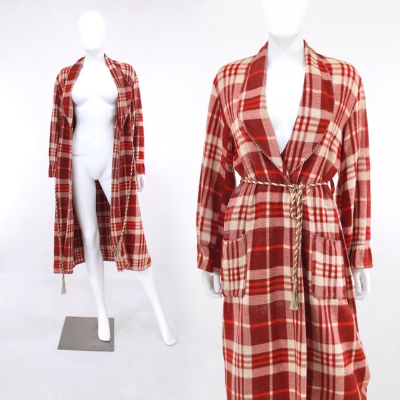 1940s Beacon Blanket Robe -1940s Blanket Robe - 40