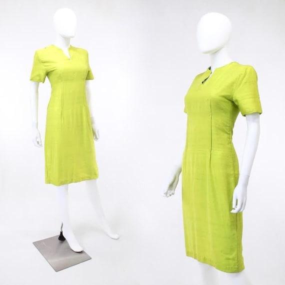 1950s Chartreuse Dress - 1950s Green Dress - 1950… - image 6