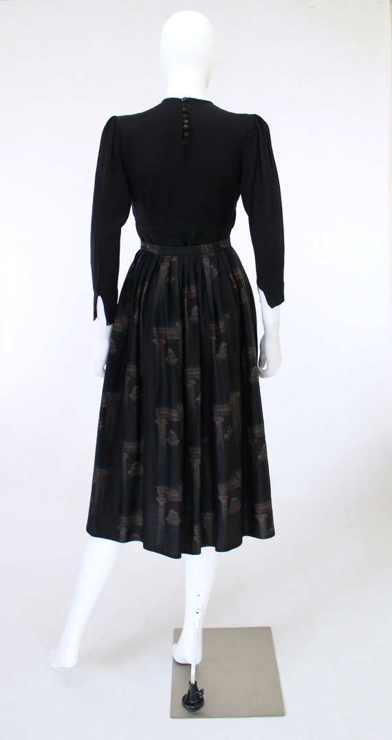 1950s Greco Roman Novelty Print Skirt - 1950s Gre… - image 9