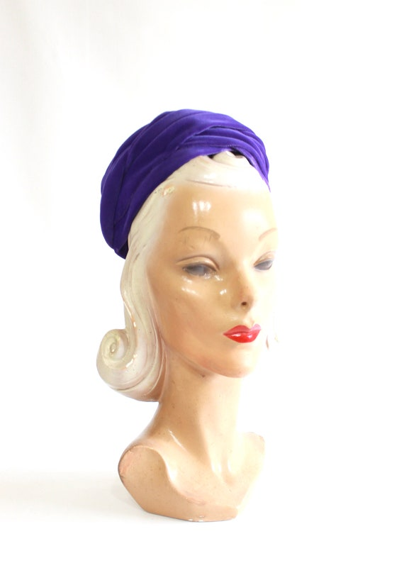 1960s Purple Pillbox - 1960s Purple Hat - Vintage… - image 9