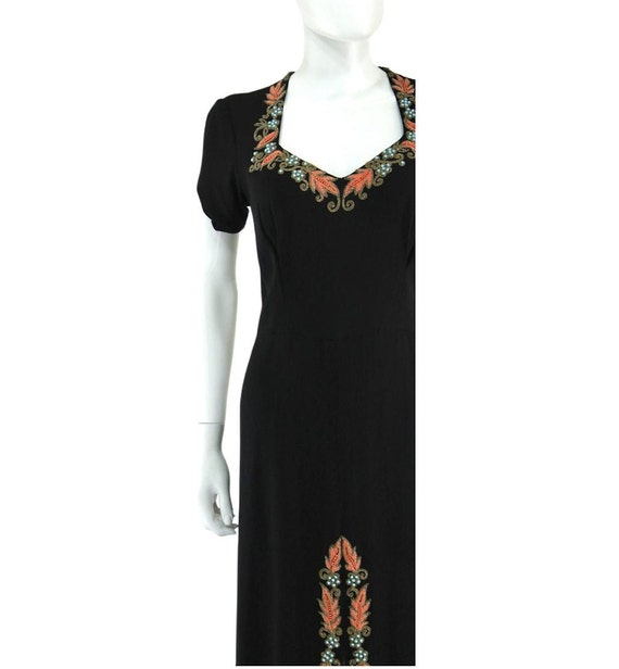 1940s Beaded Cocktail Dress - 1940s Cocktail Dres… - image 2