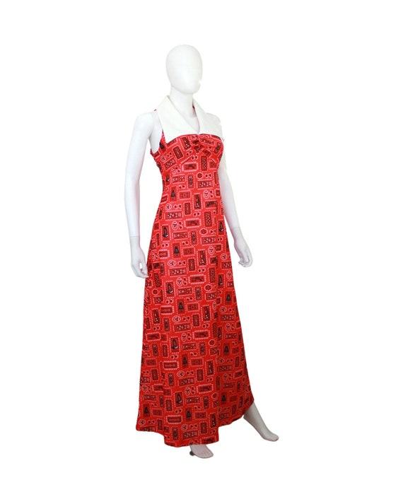 1970s Western Novelty Print Maxi Dress - 1970s Co… - image 4