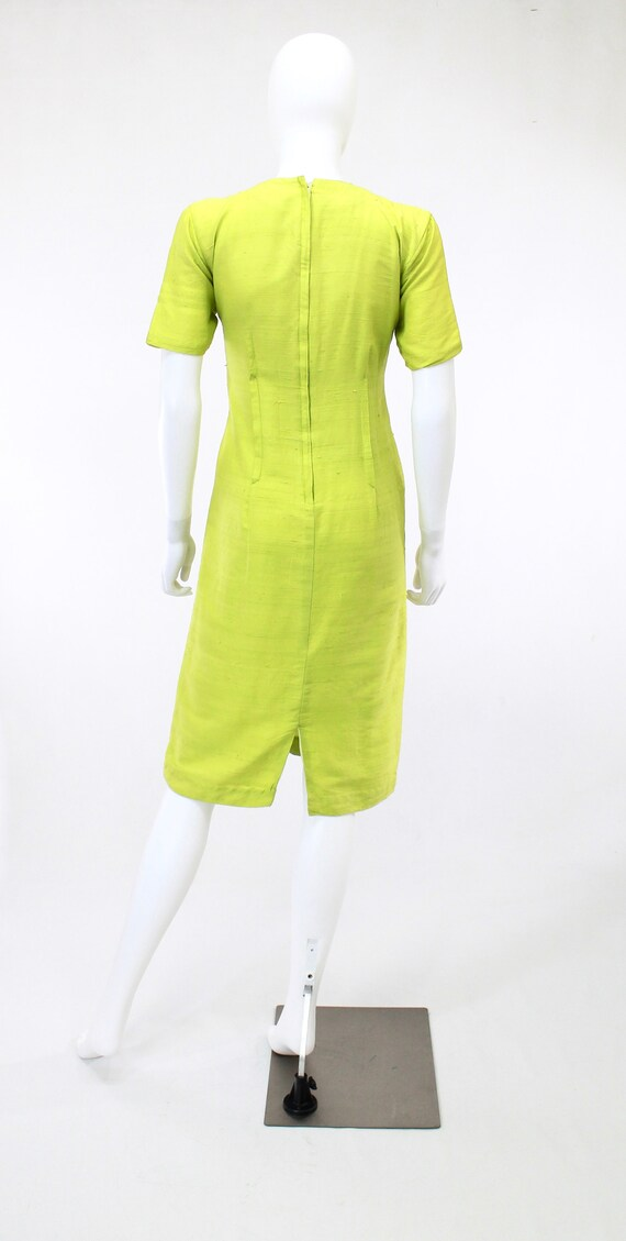 1950s Chartreuse Dress - 1950s Green Dress - 1950… - image 8