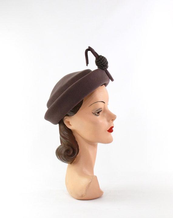 1940s Heather Gray Hat - 1940s Dove Gray Hat - Vi… - image 7