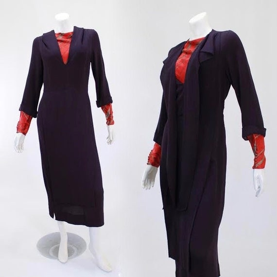 NRA Label Dress - 1930s Dress - 1930s Purple Dress