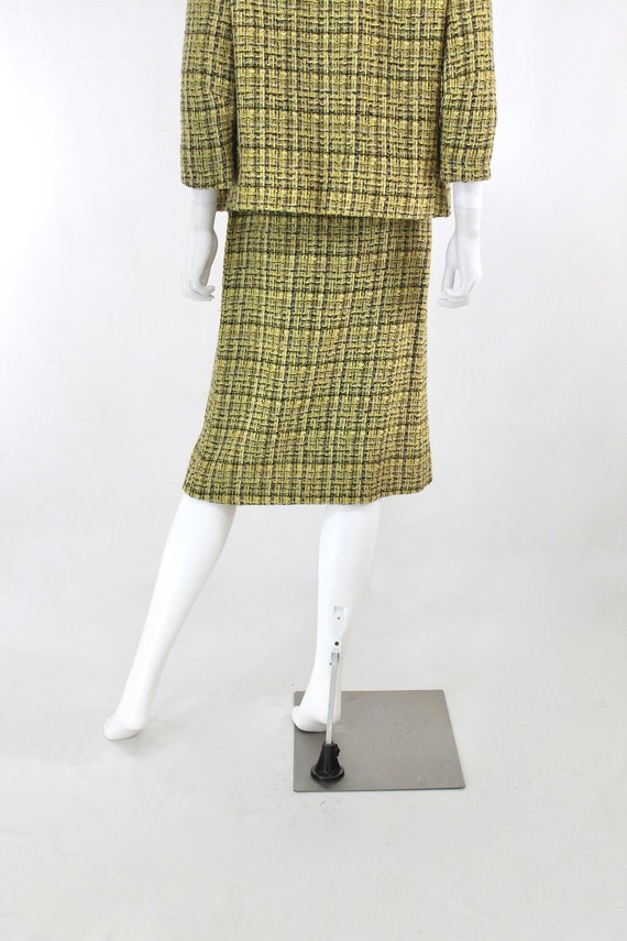 1960s Chartreuse Wool Suit - 1960s Chartreuse Sui… - image 9