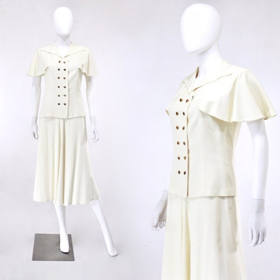 1940s Ivory Wedding Suit - 1940s Wedding Suit - 19