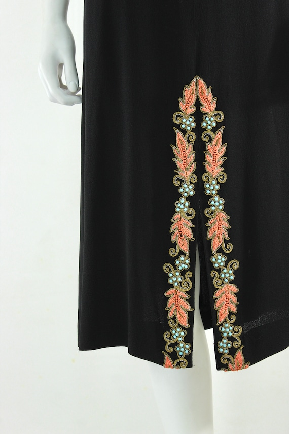 1940s Beaded Cocktail Dress - 1940s Cocktail Dres… - image 3