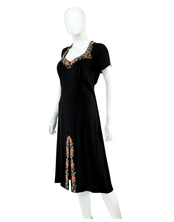 1940s Beaded Cocktail Dress - 1940s Cocktail Dres… - image 6