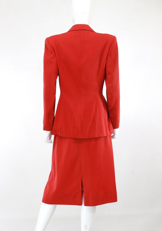 1940s True Red Wool Gab Suit - 1940s Red Suit - 1… - image 2