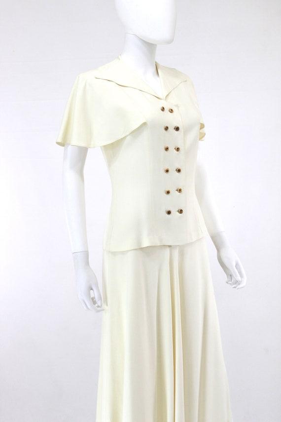 1940s Ivory Wedding Suit - 1940s Wedding Suit - 1… - image 9