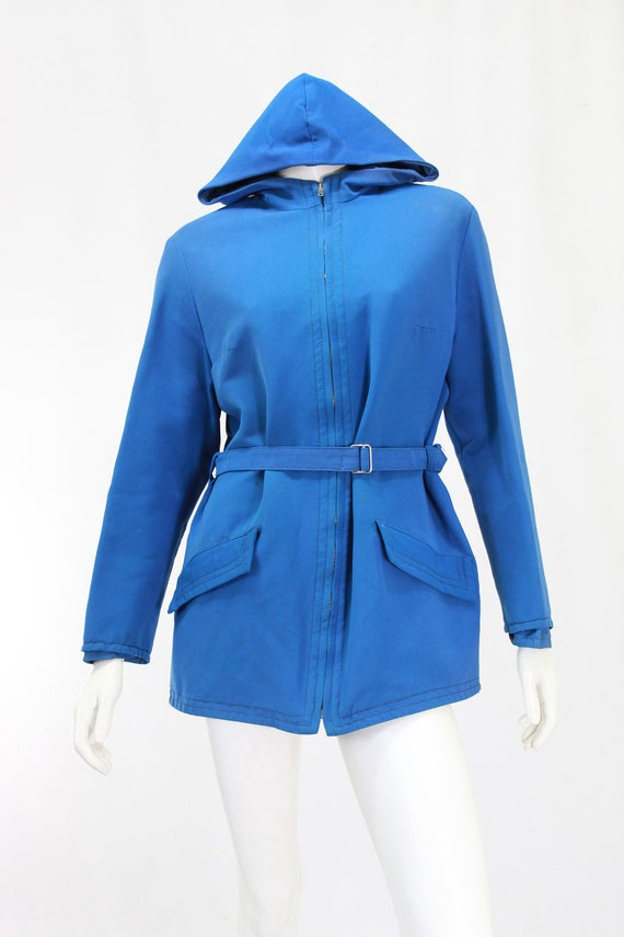 1940s Womens Ski Coat - 1940s Blue Ski Jacket - W… - image 3