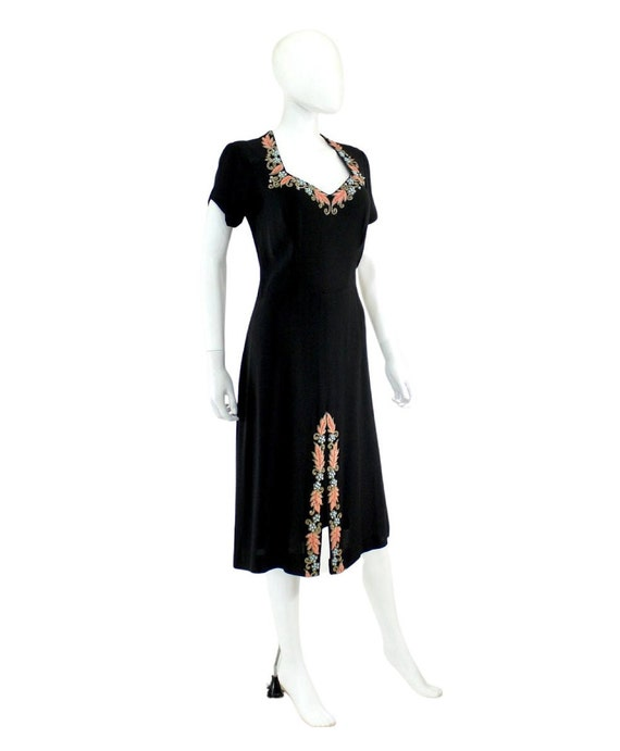 1940s Beaded Cocktail Dress - 1940s Cocktail Dres… - image 4