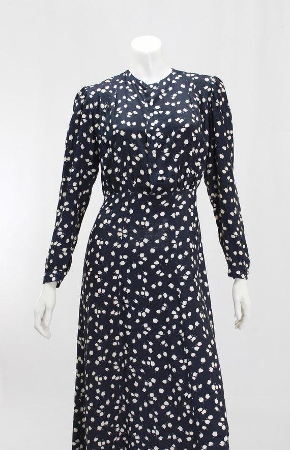 1930s Novelty Print Dress - 1930s Afternoon Dress… - image 3