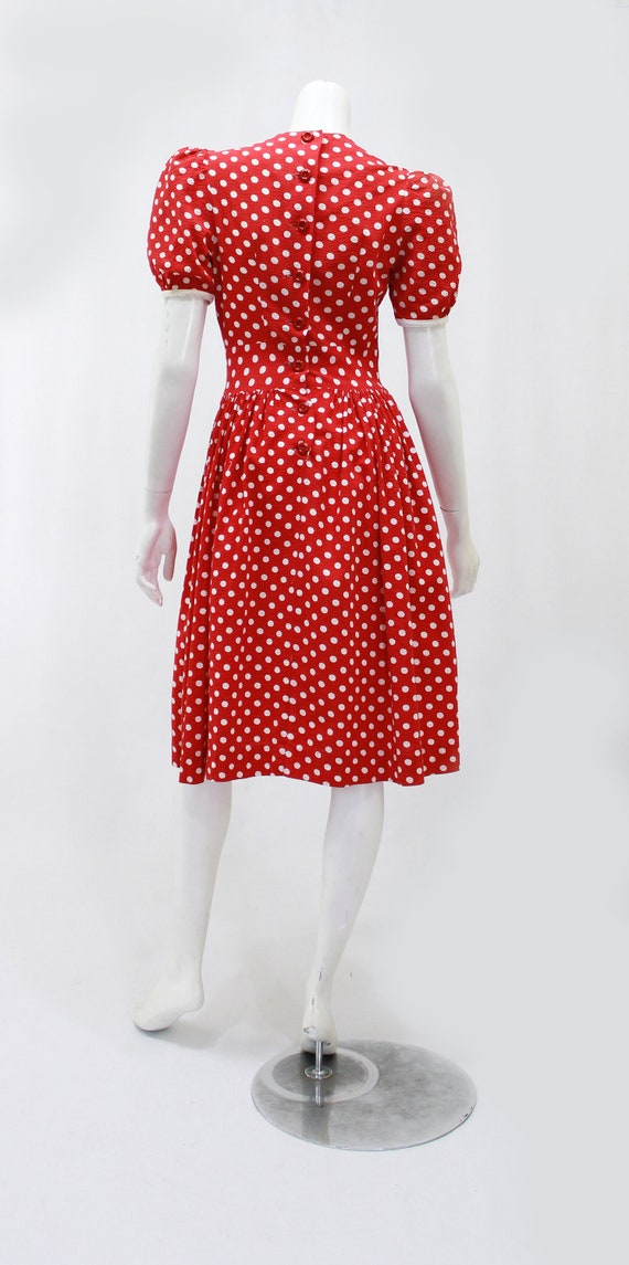 1930s Polka Dot Dress - 1930s Puff Sleeve Dress -… - image 8