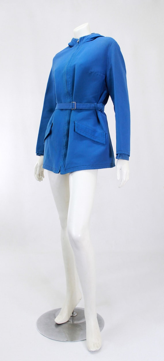 1940s Womens Ski Coat - 1940s Blue Ski Jacket - W… - image 6