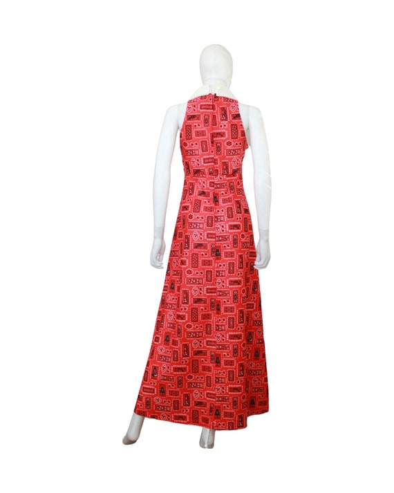 1970s Western Novelty Print Maxi Dress - 1970s Co… - image 8