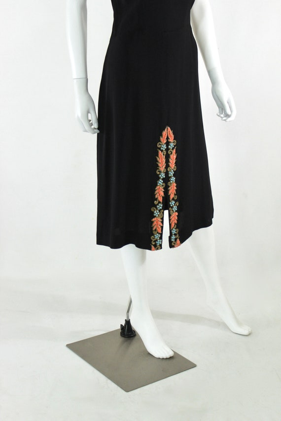 1940s Beaded Cocktail Dress - 1940s Cocktail Dres… - image 5