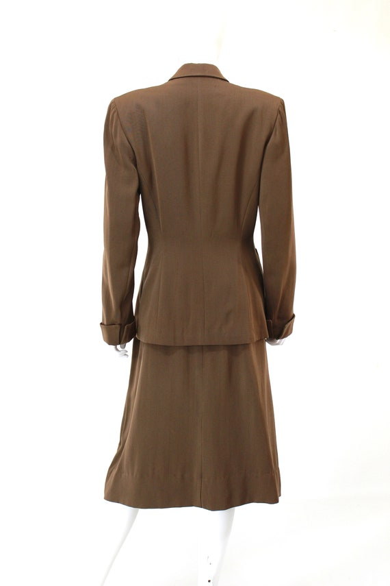RESERVED | 1940s Womens Brown Suit - 1940s Brown … - image 8