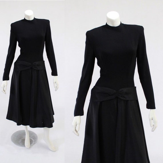 1940s LBD - 1940s Cocktail Dress - 1940s Black Dre
